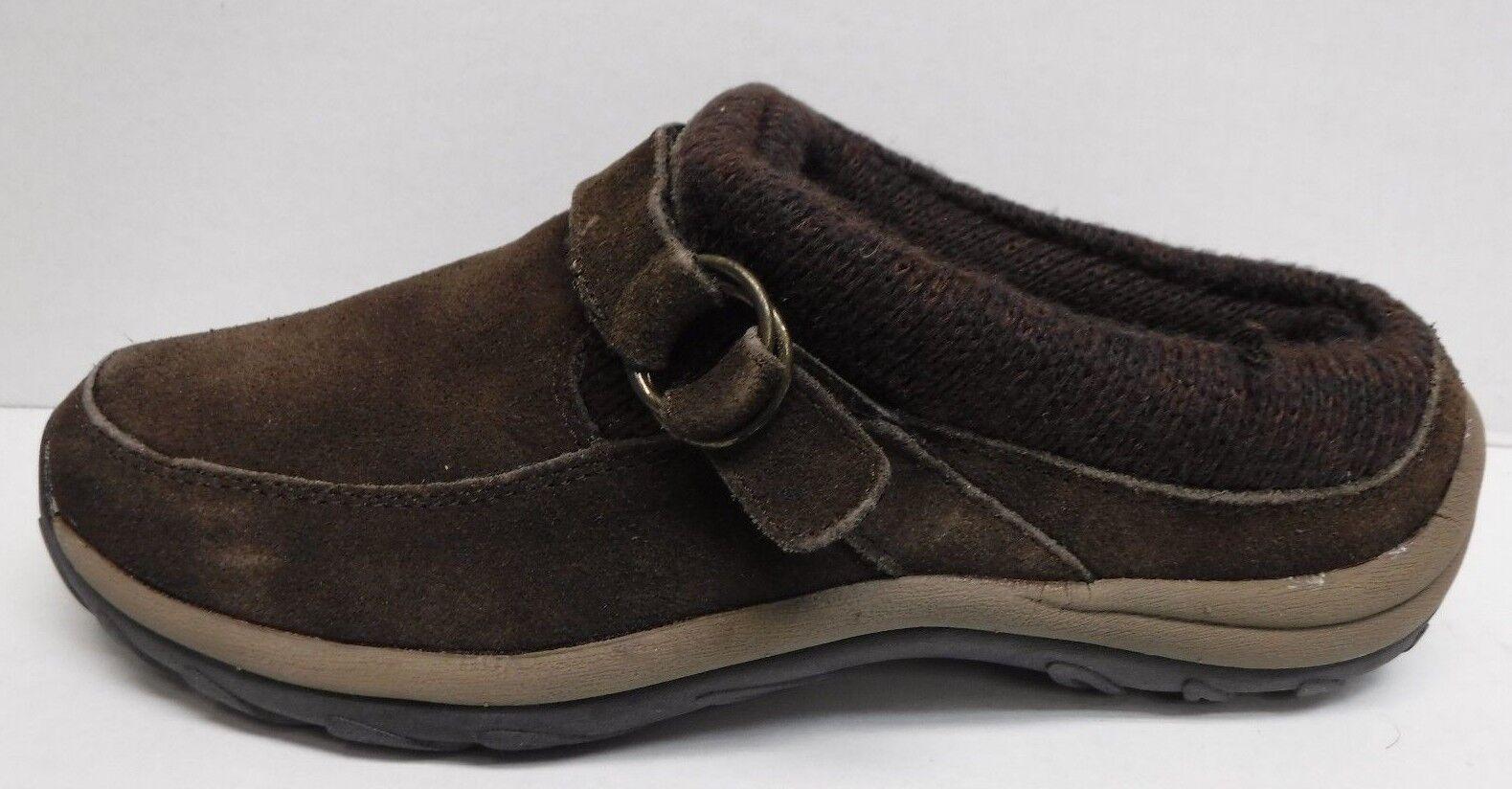 Khombu Talla 7 Marrón Cuero Zuecos Mulas Nuevos Nuevos Nuevos Zapatos para mujer  conveniente