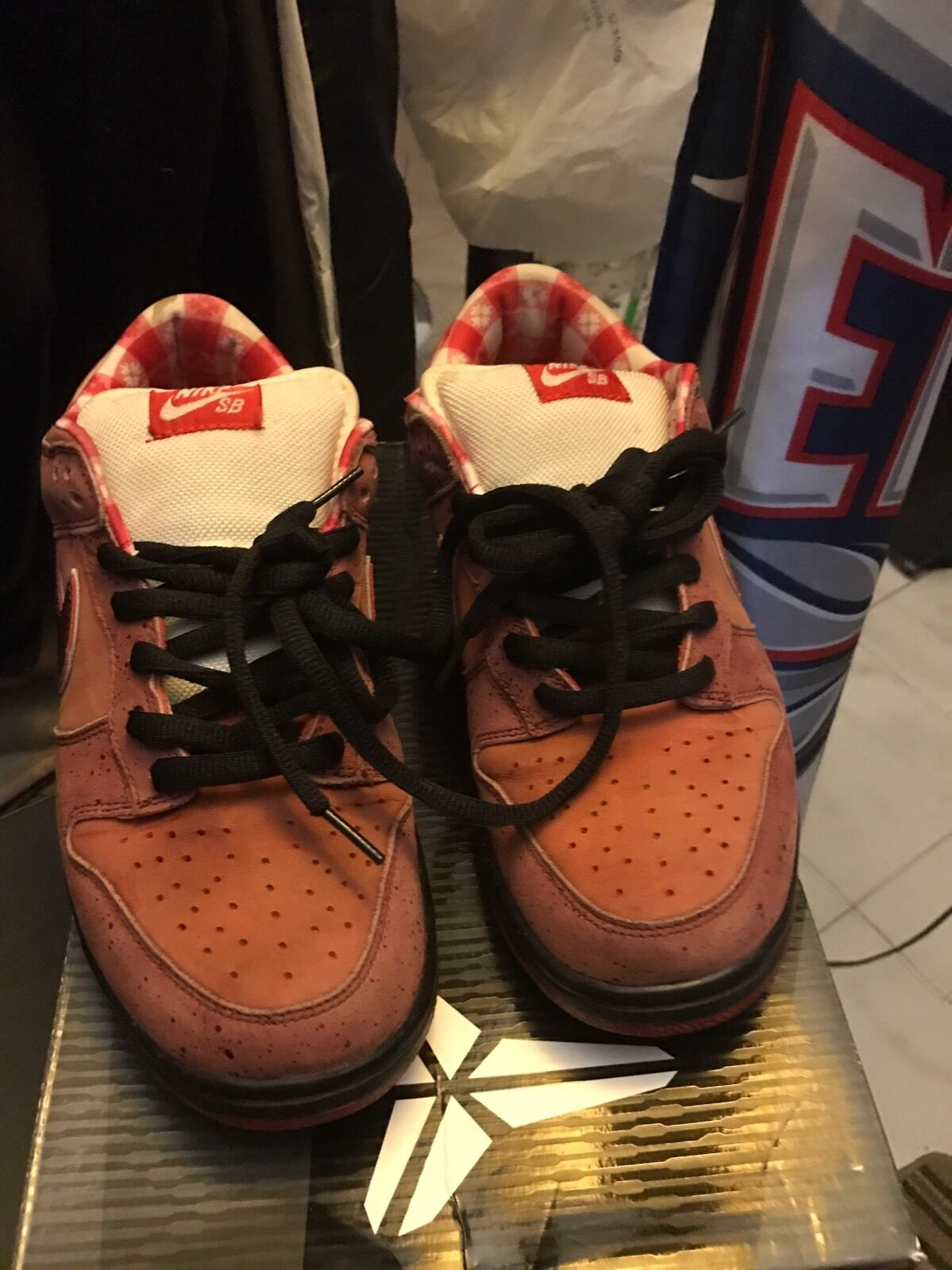 Nike Sb rosso Lobster Sz 11 Dunk Low