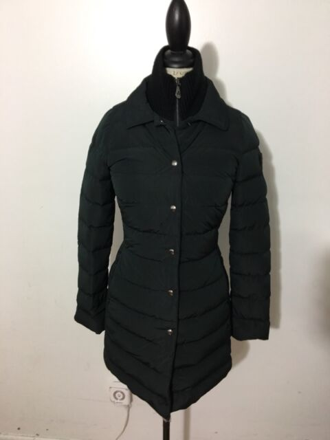 low priced 319b8 3bc01 NWT Women's PEUTEREY Colosseum Long Down Coat, Size 38, XX-Small, Black