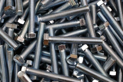 Grade 5 Full Thread 1//2-13 x 3-1//2 Hex Head Tap Bolt Zinc Plated 30