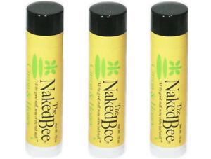 The-Naked-Bee-CITRON-amp-HONEY-Organic-Lip-Balm-THREE-PACK-NEW