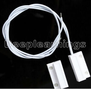 1Pair White MC-38 Wired Door Window Sensor Magnetic Switch Home Alarm System