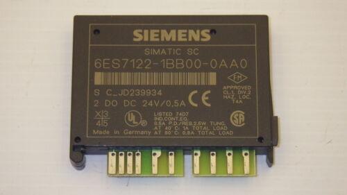 SIEMENS SIMATIC 6ES7-122-1BB00-0AA0 OUTPUT MODULE 2POINT .5AMP 24VDC ET200L-SC