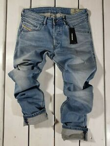 NUOVI-Jeans-Diesel-Uomo-Belther-R-R8U48-Regular-Slim-Tapered-Stretch-Blu-Lyocell
