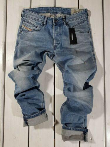 New Diesel Men/'s Jeans Belther-R R8U48 Regular Slim Tapered Stretch Blue Lyocell