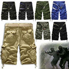 Men Loose Casual Military Army Cargo Camo Combat Work Shorts Pants Trousers Hot