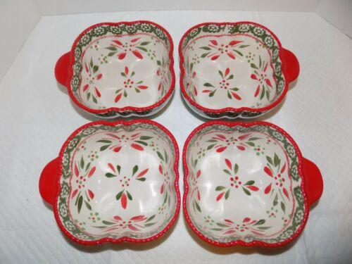 Temptations By Tara Old World Festive 16 oz Nesting Bowls Bakeware 4X