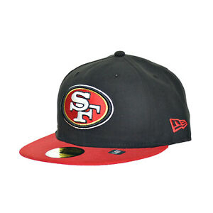 cfab4017 Details about New Era San Francisco 49ers 59Fifty Fitted Hat Athletic Caps  Black/Red 10628619