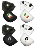 Leatherette Ireland Golf Mallet Putter Cover (irish Flag Or Shamrock)