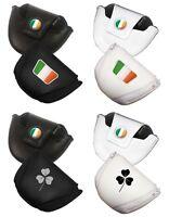 Leatherette Ireland Golf Mallet Putter Cover (irish Flag Or Shamrock)