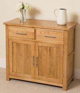 Oslo 100% Solid Oak Small Sideboard Cabinet Storage Unit Living Room ...