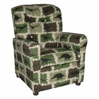 Brazil Furniture 4 Button Back Child Recliner - Camo Rex, Multi on Sale