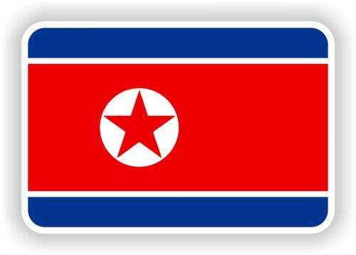 North korea flag sticker 2 8x4bumper decal car tablet door bike book truck