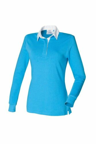 Front Row Rugby Women/'s Long Sleeve Plain Rugby Shirt FR101