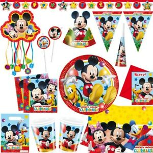 Mickey-Mouse-Anniversaires-D-039-Enfant-Deco-Minnie-Pluto-Set