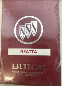 1991-GM-Buick-REATTA-Operators-Owner-Owners-Manual-Factory-OEM