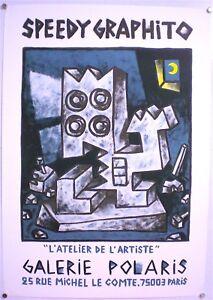 SPEEDY-GRAPHITO-AFFICHE-ORIGINALE-D-EXPOSITION-GALERIE-POLARIS-PARIS-1986