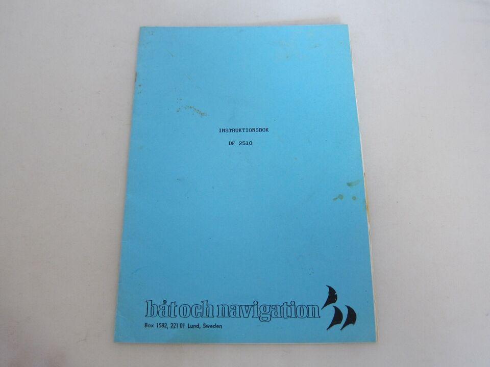 DF 2510 instruktionsbog til Ekkolod.  Instrukti...