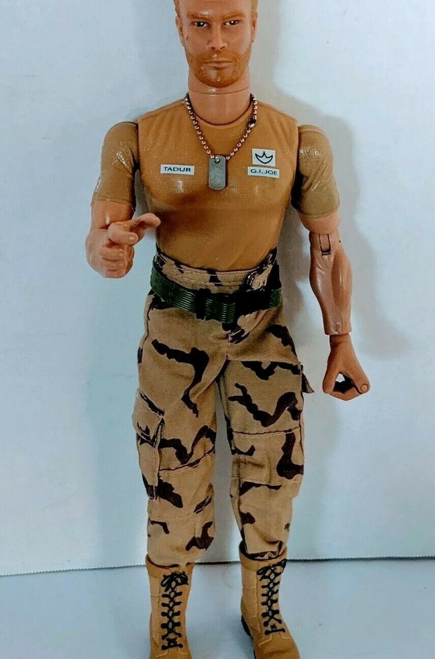 VTG GI JOE DUSTY TADUR 12 azione cifra HASBRO SOLDIER Blonde Hair orsod 1996