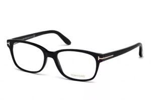ffed242bc57 Tom Ford FT5406 TF 5406 001 Eyeglasses Rectangular Black Gold 55mm ...