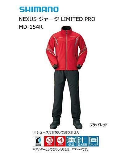 SHIMANO NEXUS Fishing Training Suit Pants SET Limited  Pro MD-154R RED Japan  with cheap price to get top brand