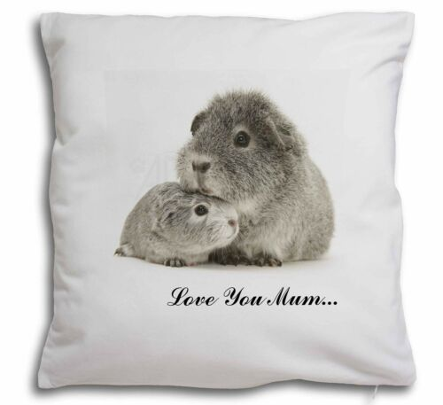 Silver Guinea Pigs 'Love You Mum' Soft Velvet Feel Cushion Cover W, GIN3lymCPW