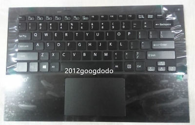 New sony vaio SVF142 SVF14219SG SVF143A1QT SVF142A23T Palmrest US Keyboard white