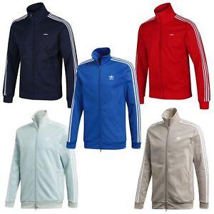 Adidas-Originals-Beckenbauer-Chaqueta-Rojo-Azul-Marino-Azul-Verde-Beis-XS