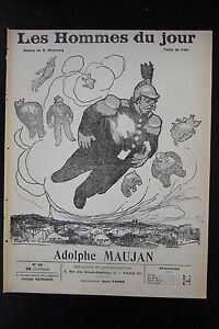 Adolphe-Maujan-Politique-Caricature-Drawing-the-Men-the-Jour-No-No-28-of-1908