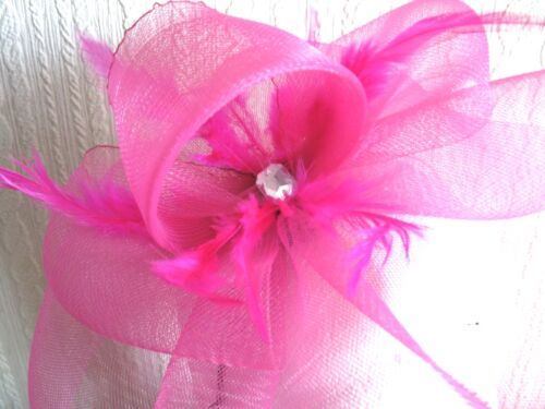 Rose Chaud Plumes Serre-Tête Fascinator Mariage Chapeau Ascot
