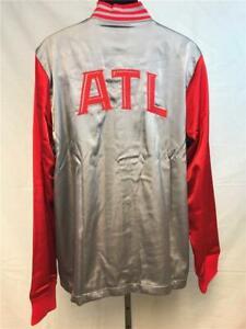 New Atlanta Hawks Mens L-XL-3XL-4XL+2 On Court Silver 2nd Half Jacket