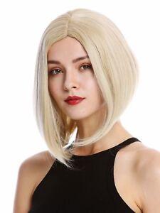 Details about Wig Women\u0027s Cosplay short Shoulder Length Long Bob Middle  Part Blonde Mix