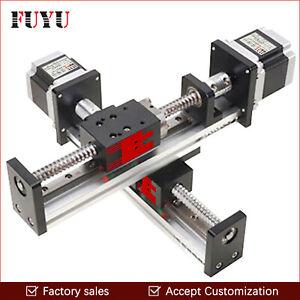 TOP CNC Linear Slide Guide Rail Actuator Stage XYZ Motorized Motion Table Nema23