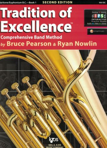 W61BC Book 1 Tradition of Excellence Baritone//Euphonium B.C