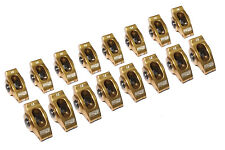 COMP CAMS ULTRA GOLD ALUMINUM ROLLER ROCKER ARMS SBC CHEVY V8 1.6 RATIO 3/8 STUD