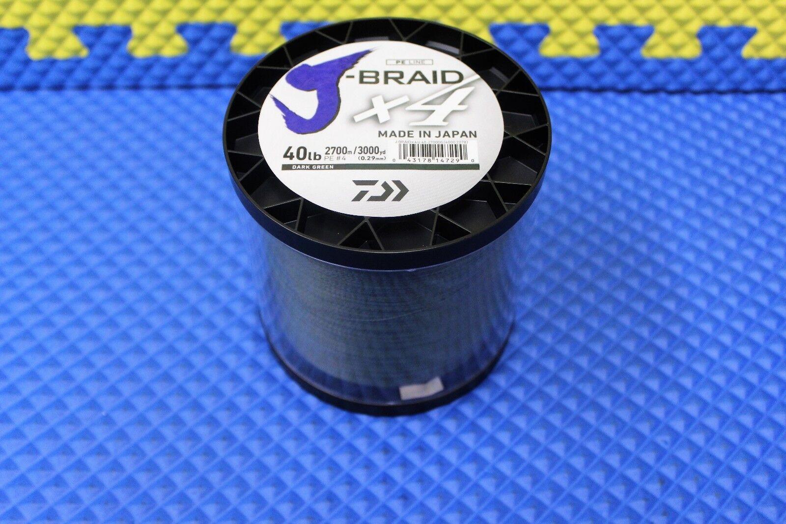 Daiwa J-Braid X4U 40-2700DG Dark vert 40lb 3000yd 4000-2078