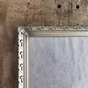 10x8-Antique-Silver-Frame-Photo-Convex-Glass-Danish-Brass-Wall-Picture-Farmhouse