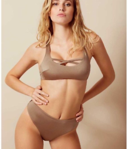 BNWT Authentic Rare Sexy Agent Provocateur Keia bikini mink gold
