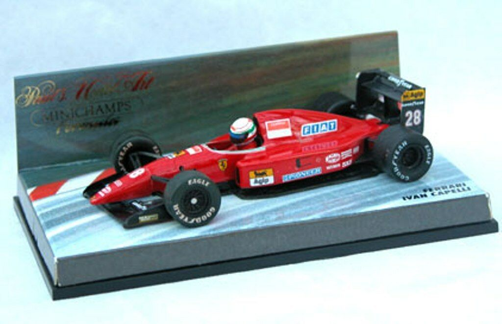 MINICHAMPS 337.004.3   337.006.0 FERRARI F1 model cars J Alesi   I Capelli 1 43