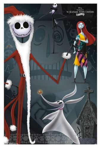 NIGHTMARE BEFORE CHRISTMAS CHARACTER COLLAGE POSTER 22x34-16633