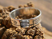 Sterling Silver Navajo Mens Stamped Pattern Band Ring Size 12 1/2