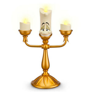 New DISNEY PARKS EXCLUSIVE LUMIERE LIGHT UP CANDLESTICK BEAUTY AND THE BEAST