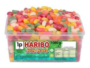 HARIBO-JELLY-BEANS-1-TUB-OF-RETRO-SWEETS-TREATS-CANDY-BOX-PARTY-1080-g