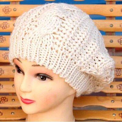 Women Lady Winter Warm Knitted Crochet Slouch Baggy Beret Beanie Hat Cap SE