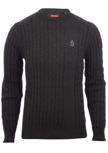 Luke 1977 Premium Hortons Morden Knit Jumper Lux Olive RRP £79.99