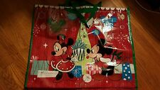 Disney Store HUGE Christmas Mickey Minnie Mouse Reusable Grocery Bag Tote