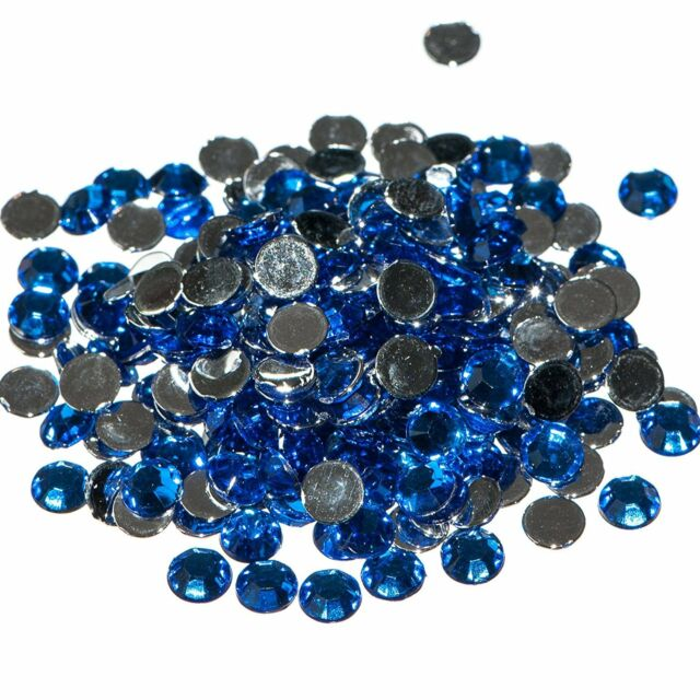 Pack of 1000 x Sapphire Crystal Flat Back Rhinestone Diamante Gems 4mm Nail Art