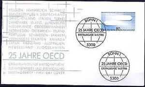 BRD 1986: OECD 25 Jahre! FDC der Nr. 1294 mit Bonner Sonderstempeln! 1A! 1608