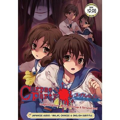 DVD Corpse Party: Missing Footage & Tortured Souls Vol. 1 - 5 + Free 1 Anime DVD