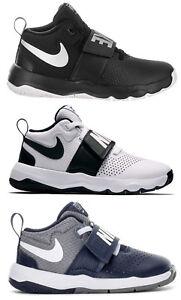 NIKE-TEAM-HUSTLE-D8-TD-PS-scarpe-bambino-bambina-basket-pelle-sneakers-strappi